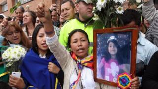 Protesta por la muerte de Yuliana Samboní
