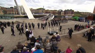 HMS Calliope rededication ceremony