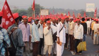 नाशिक ते मुंबई शेतकरी लाँग मार्चमधली क्षणचित्रे