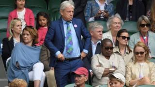 John Bercow at Wimbledon