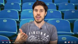 Adam Blampied presenting a video on YouTube