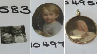 Photos from recovered jewellery