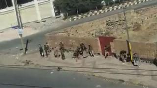 Houthi fighters in the Yemeni capital, Sanaa, on December 2, 2017