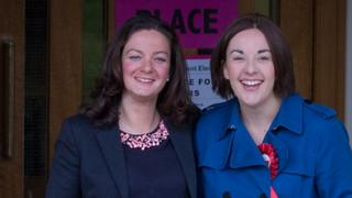 Kezia Dugdale and Louise Riddell
