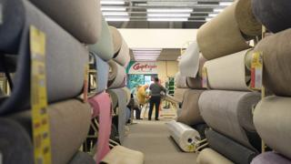 Customers in Carpetright store