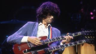 Jimmy Page playing in 1983