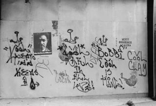 Graffiti from circa 1970 by Kool Klepto Kidd, Cool Earl and Bobbi Cool