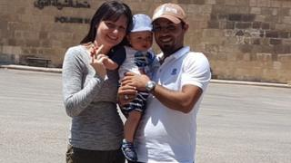 Toni Stew with her husband Mohamed El Faramawi and their son Ali