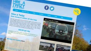 Hire a Twizy website