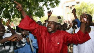 tchad, démonstration, opposition