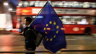 پرچماتخادیه اروپا در لندن