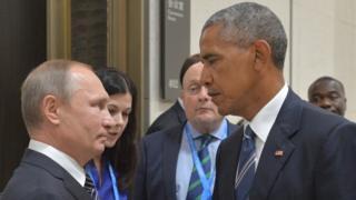 Putin and Obama meet in China