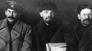 Ba nhân vật cao cấp của cách mạng cộng sản Nga: Statin, Lenin và Kalinin