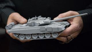 Модель танка Т-90