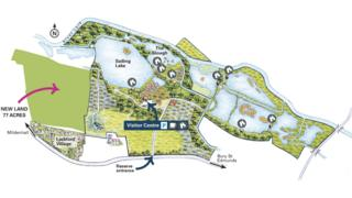 Map showing the reserve