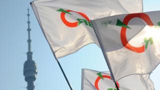 логотип яблока на флаге
