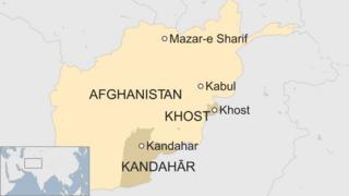 Sawir muujinaya khariidada Afghanistan iyo halka Khost kaga taal dalka
