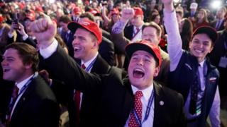 Donald Trump'ın destekçileri kutlama yapıyor