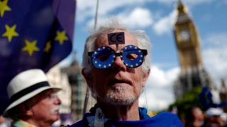 Man on the anti-Brexit march