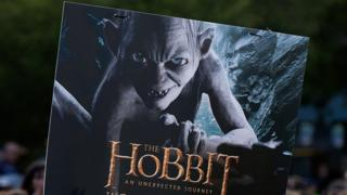 A poster for the film The Hobbit showing Gollum