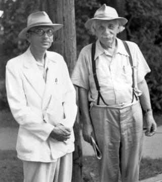 Kurt Gödel y Albert Einstein