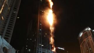 Dubai yangın