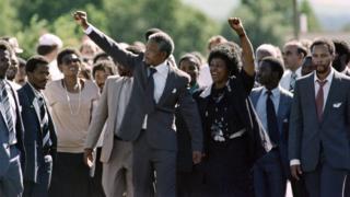 Nelson Mandela. Photo: October 1990