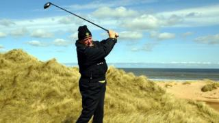 The Trump International course in Aberdeenshire