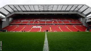 Garoonka Liverpool ee Anfield