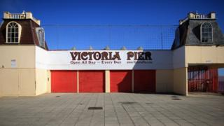 Photo of Victoria Pier, which has been closed since 2008