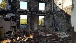 Remains of the farmhouse from inside