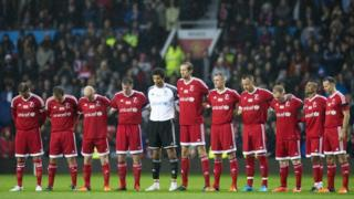 Tribute at the Unicef charity match