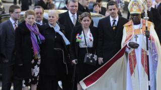 Paul and Alison Rough with the Archbishop of York Dr John Sentamu