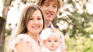 Dominic and Kate James with daughter Madeleine