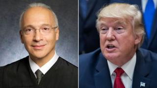 Judge Gonzalo Curiel (L) and President Donald Trump