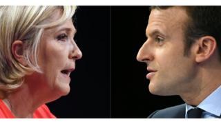 Bà Marine Le Pen và ông Emmanuel Macron lọt vào vòng hai.