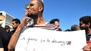 Tunus'ta eylem