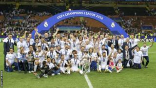 Klabu ya Real Madrid iliposhinda taji la vilabu bingwa Ulaya
