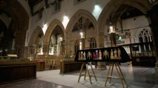 Richard III's coffin in Leicester Cathedral