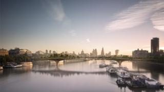 Artists impression of London garden bridge