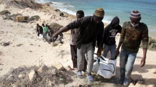 Refugiados muertos en Libia