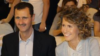 Syrian President Bashar al-Assad and wife Asma in Damascus, 5 Sep 10