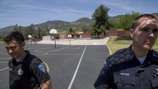 полицейские у школы