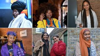 Collage with 6 images of girls at the black girl festival