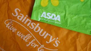 Sainbury's and Asda carrier bags