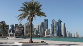 View from the corniche in Doha, Qatar