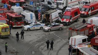 Так выглядела Сенная площадь после взрыва в питерском метро