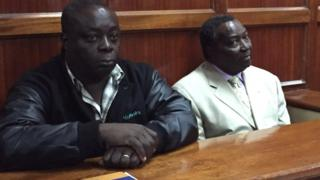 Pius Ochieng (L) and Francis Paul (R) are being investigated over what happened to Kenya's Olympic team