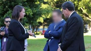 Police released images of Ben McCormack's arrest showing his face blurred