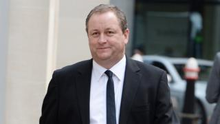 Mike Ashley arriving at the High Court on Thursday